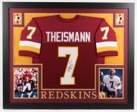 "Joe Theismann Signed Washington Redskins 35x43 Custom Framed Jersey Inscribed ""83 MVP"" (JSA COA)"