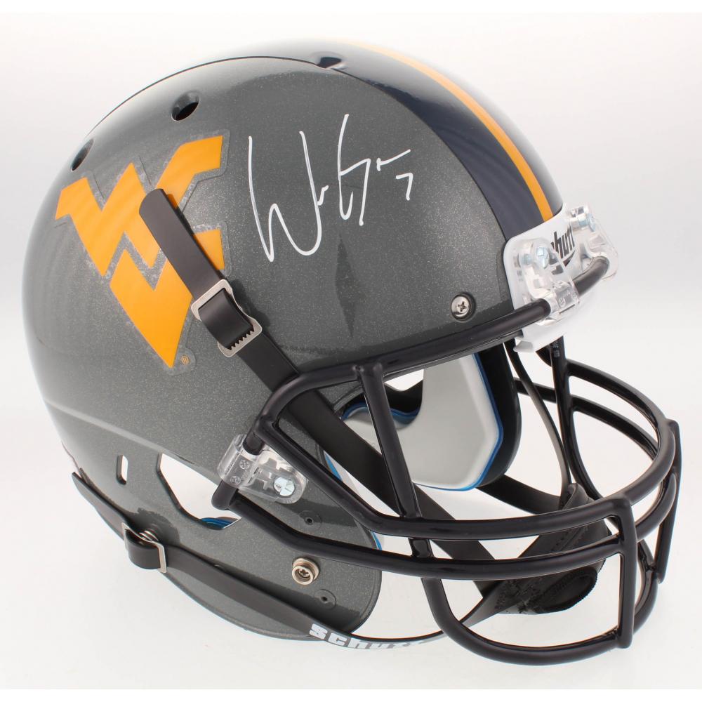 Will Grier Go Mountaineers Autographed Schutt WVU Full-Size Football Helmet JSA
