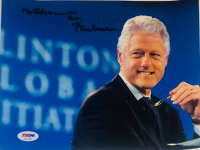 "Bill Clinton Signed 8x10 Photo Inscribed ""Thanks"" (PSA LOA)"