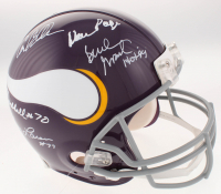 "Minnesota Vikings Full-Size Authentic On-Field Helmet Signed by (5) with Alan Page, Carl Eller, Jim Marshall, Gary Larsen & Bud Grant Inscribed ""HOF 94"" (TSE COA) at PristineAuction.com"