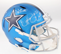 Dak Prescott, Amari Cooper & Ezekiel Elliot Signed Dallas Cowboys Full-Size Blaze Speed Helmet (Beckett COA) at PristineAuction.com