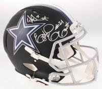 Dak Prescott, Amari Cooper & Ezekiel Elliot Signed Dallas Cowboys Full-Size Matte Black Authentic On-Field Speed Helmet (Beckett COA) at PristineAuction.com