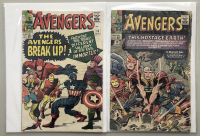 """Lot of (2) 1964-65 """"The Avengers"""" First Series Marvel Comic Books with Issue #10 & Issue #12"""