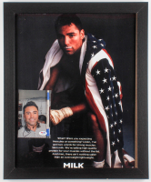 Oscar De La Hoya Signed 18x22 Custom Framed Display (PSA COA)