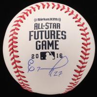 Eloy Jimenez Signed 2016 All-Star Futures Game Logo OML Baseball (JSA Hologram)