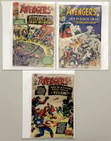 """Lot of (3) 1965 """"The Avengers"""" First Issue Marvel Comic Books with Issue #13, Issue #14 & Issue #15"""