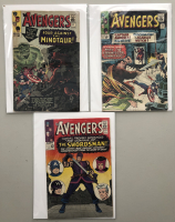 """Lot of (3) 1965 """"The Avengers"""" First Issue Marvel Comic Books with Issue #17, Issue #18 & Issue #19"""