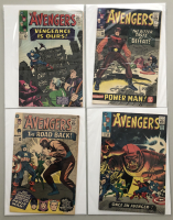 """Lot of (4) 1965 """"The Avengers"""" First Issue Marvel Comic Books with Issue #20, Issue #21, Issue #22 & Issue #23"""