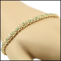 5.39 CT Emerald & Diamond Designer Bracelet
