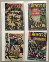 """Lot of (4) 1966 """"The Avengers"""" First Issue Marvel Comic Books with Issue #24, Issue #25, Issue #26 & Issue #27"""