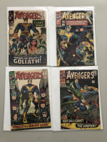 """Lot of (4) 1966 """"The Avengers"""" First Issue Marvel Comic Books with Issue #28, Issue #29, Issue #30 & Issue #31"""