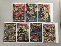 """Lot of (7) 1966 """"The Avengers"""" First Issue Marvel Comic Books with Issue #38, Issue #39, Issue #40, Issue #41, Issue #42, Issue #43 & Issue #44"""