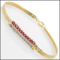 4.79 CT Ruby & Diamond Designer Bracelet