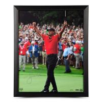 """Tiger Woods Signed """"Exultation"""" 16x20 Custom Framed Photo (UDA COA)"""