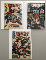 """Lot of (3) 1968 """"The Avengers"""" First Issue Marvel Comic Books with Issue #53, Issue #54 & Issue #55"""