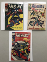 """Lot of (3) 1968 """"The Avengers"""" First Issue Marvel Comic Books with Issue #56, Issue #58 & Issue #59"""