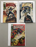 """Lot of (3) 1969 """"The Avengers"""" First Issue Marvel Comic Books with Issue #63, Issue #64 & Issue #65"""