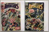 """Lot of (2) 1969 """"The Avengers"""" First Series Marvel Comic Books with Issue #66 & Issue #67"""