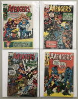 """Lot of (4) 1970 """"The Avengers"""" First Issue Marvel Comic Books with Issue #75, Issue #76, Issue #77 & Issue #78"""