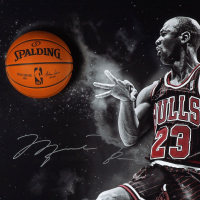 "Michael Jordan Signed Chicago Bulls ""No Look"" 44x64 Custom Framed Photo Display (UDA COA) at PristineAuction.com"