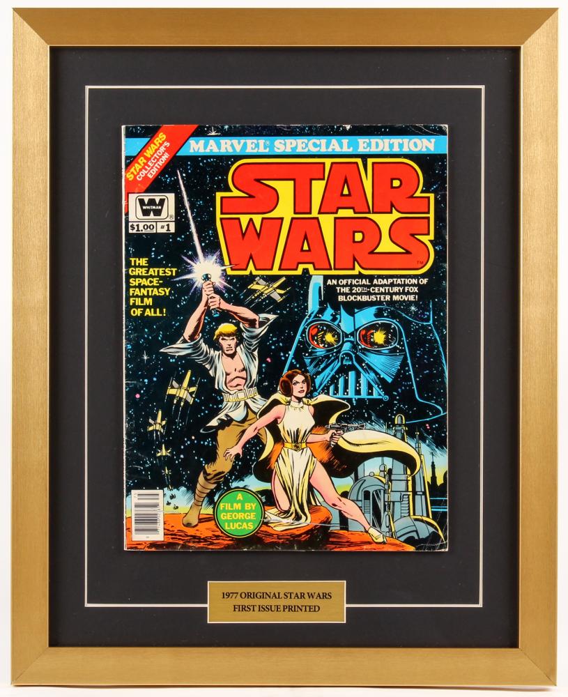 "Vintage 1977 ""Star Wars"" Issue #1 Marvel 17x21 Custom Framed Comic Book at PristineAuction.com"