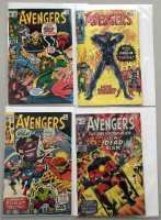 """Lot of (4) 1971 """"The Avengers"""" First Issue Marvel Comic Books with Issue #86, Issue #87, Issue #88 & Issue #89"""