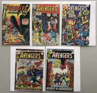 """Lot of (5) 1971 """"The Avengers"""" First Issue Marvel Comic Books with Issue #90, Issue #91, Issue #92, Issue #93 & Issue #94"""