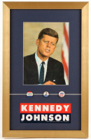 John F. Kennedy 14x22 Custom Framed Photo Display with Pins & Sticker