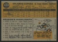 1960 Topps #450 Orlando Cepeda at PristineAuction.com
