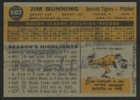 1960 Topps #502 Jim Bunning at PristineAuction.com