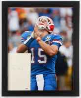 Tim Tebow Signed Florida Gators 18x22 Custom Framed Cut Display (PSA COA)