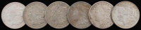 Lot of (6) 1921-S Morgan Silver Dollars