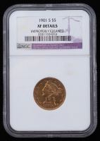 1901-S Liberty Head $5 Five Dollar Gold Coin (NGC XF Details) at PristineAuction.com