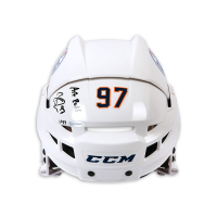 "Connor McDavid Signed Edmonton Oilers Full Size Limited Edition Helmet Inscribed ""Art Ross"" (UDA COA) at PristineAuction.com"