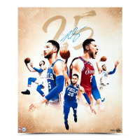 Ben Simmons Signed Philadelphia 76ers 20x24 Photo (UDA COA) at PristineAuction.com