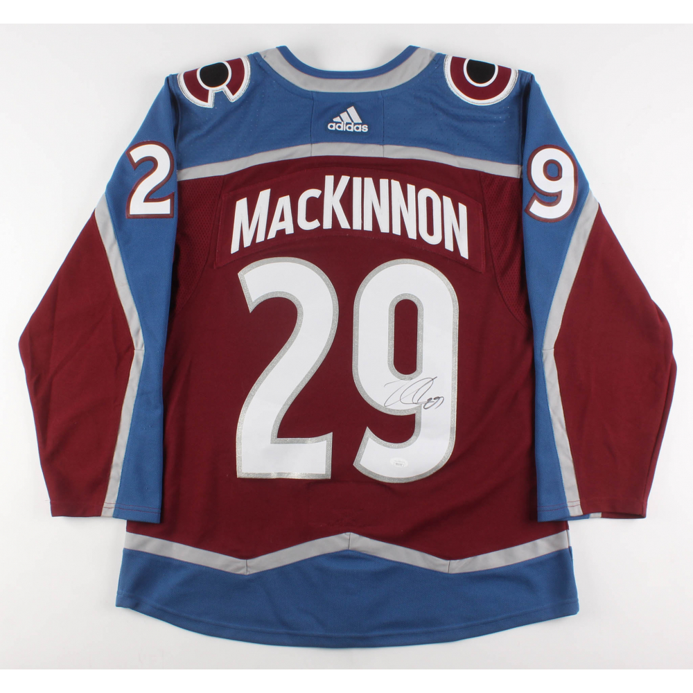 factory authentic 90338 d8de8 nathan mackinnon signed jersey