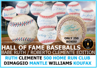 Mystery Ink Hall of Fame Baseball Babe Ruth / Clemente Mystery Box Edition! 1 HOF Signed Baseball In Every Box! at PristineAuction.com