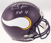 "Randy Moss Signed Minnesota Vikings Full-Size Authentic On-Field Helmet Inscribed ""HOF 18"" (JSA COA) at PristineAuction.com"