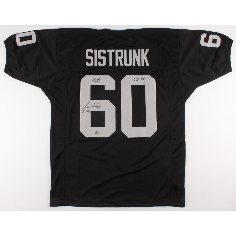 Otis Sistrunk Signed Oakland Raiders Jersey Inscribed