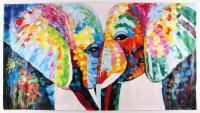 "Rodney Weng - ""Love"" 25.5x49 Original Knife Palette Oil Panting on Linen (PA LOA)"