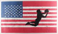 "Rodney Weng - ""American Gridiron"" 21.5x37.5 Original Oil Panting on Linen (PA LOA)"