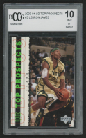2003-04 UD Top Prospects #3 LeBron James (BCCG 10)