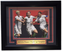 "2015 USA Women's World Cup Champions 14"" x 17"" Custom Framed Photo Display at PristineAuction.com"