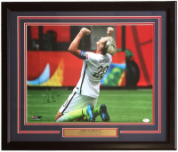 Abby Wambach Signed Team USA 22x27 Custom Framed Photo Display (JSA COA)