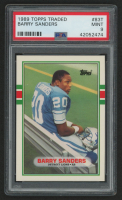 1989 Topps Traded #83T Barry Sanders RC (PSA 9)