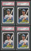 Lot of (4) 1989 Topps Traded #41T Ken Griffey Jr. RC (PSA 9)