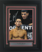 Nate Diaz Signed UFC 11x14 Custom Framed Photo Display (Beckett COA)