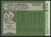Earl Campbell Signed 2004 Topps Fan Favorites #25 (Sports Cards COA) at PristineAuction.com