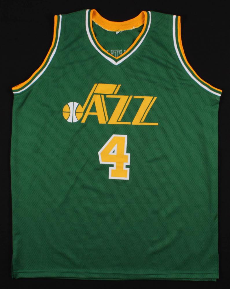 833b2c79c390c Adrian Dantley Signed Utah Jazz Jersey Inscribed