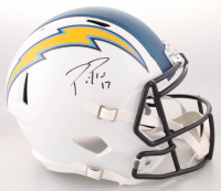 Philip Rivers Signed Los Angeles Chargers Full-Size Hydro-Dripped Speed Helmet (Beckett COA)